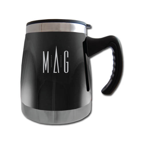 Squat Mug w/Handle- Black