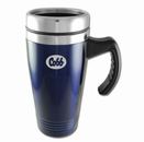 Colored Stainless-Steel Mugs – Blue