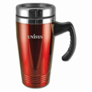 Colored Stainless-Steel Mugs – Red