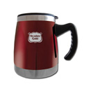 Squat Mug w/Handle- Burgundy