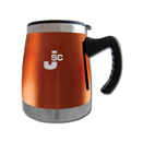 Squat Mug w/Handle- Orange