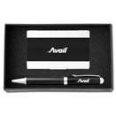 2PC Carbon Fiber Ballpoint Gift Set
