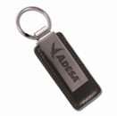 Leather & Metal Key Tag Series II Black