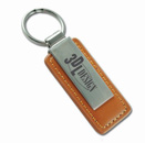 Leather & Metal Key Tag Series II Brown
