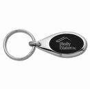 Elegance Oval Black Key Tag