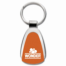 Teardrop Key Tag in Orange