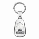 Brushed Chrome Teardrop Key Tag