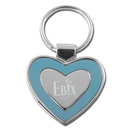 Heart Collection Blue/Silver Heart Keytag