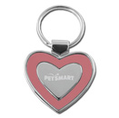 Heart Collection Pink/Silver Keytag