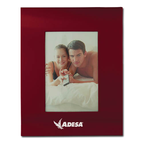 Color Brushed Metal 3X5 Picture Frame - BURGANDY DSK3006
