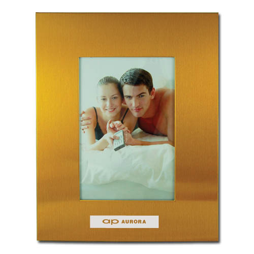 Color Brushed Metal 3X5 Picture Frame – GOLD DSK3009