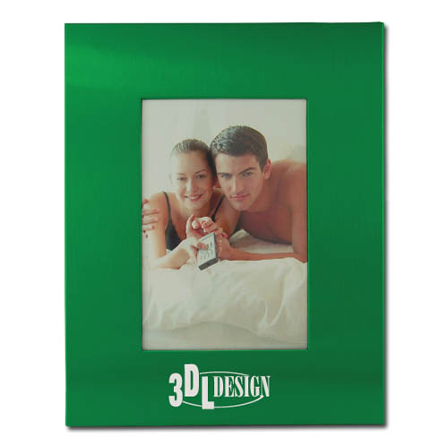 Color Brushed Metal 3X5 Picture Frame – GREEN DSK3007