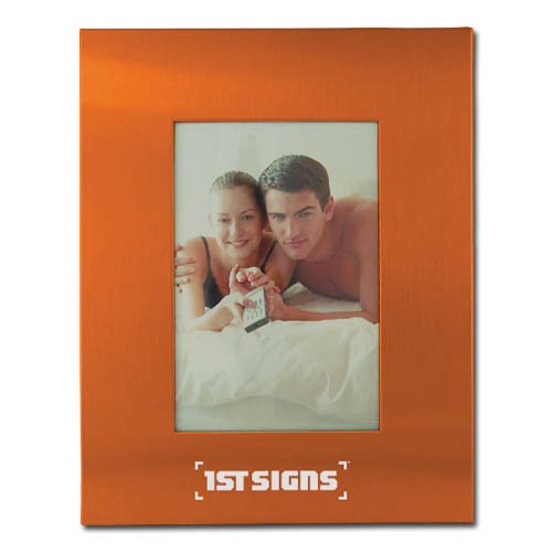 Color Brushed Metal 3X5 Picture Frame – ORANGE DSK3008