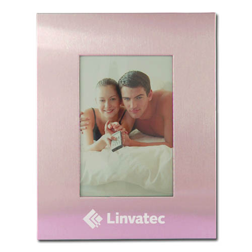 Color Brushed Metal 3X5 Picture Frame - PINK DSK3001