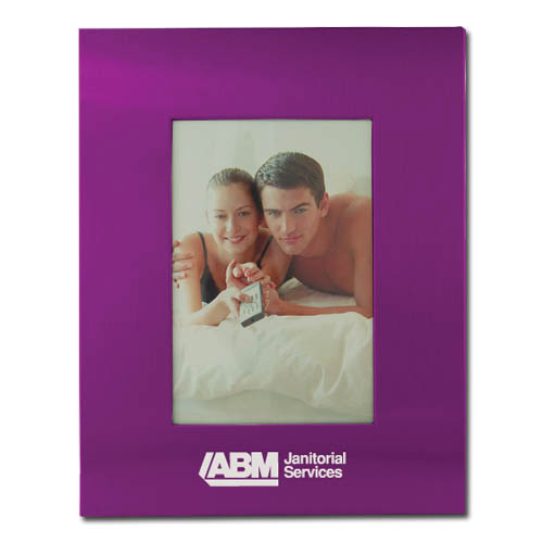 Color Brushed Metal 3X5 Picture Frame - PURPLE DSK3005