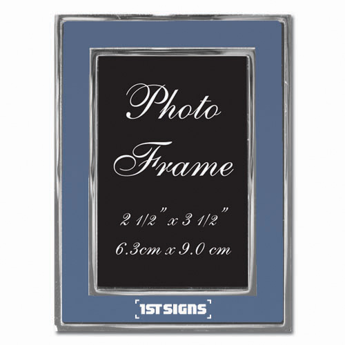 Colored-Blue Metal Photo Frame 2.5