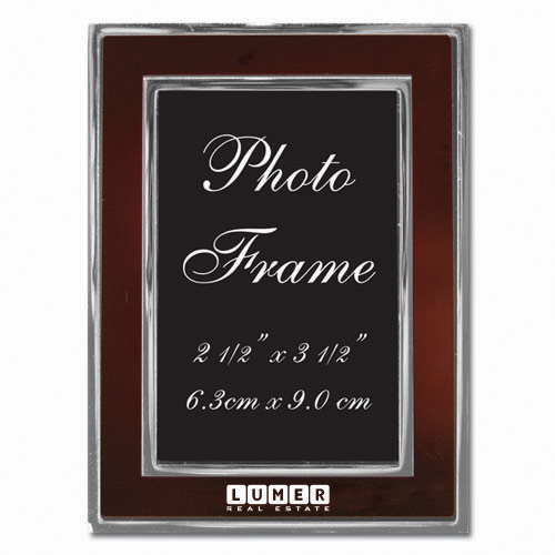 Colored-Burgandy Metal Photo Frame 2.5