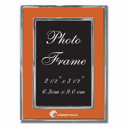 Colored-Orange Metal Photo Frame 2.5″ x 3.5″ DSK3022