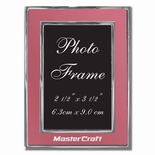 Colored-Pink Metal Photo Frame 2.5