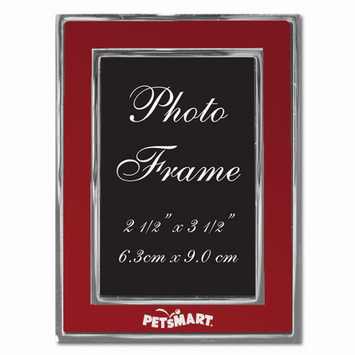 Colored-Red Metal Photo Frame 2.5