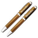 Gold Carbon Fiber Pen/Pencil Set