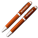 Orange Carbon Fiber Pen/Pencil Set