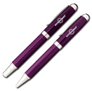 Purple Carbon Fiber Pen/Pencil Set