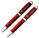 Red Carbon Fiber Pen/Pencil Set