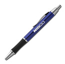 Click Action Ballpoint Pen - Blue Silver