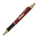Click Action Ballpoint Pen - Burgandy Gold
