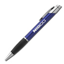 Twist Action Ballpoint - Blue Silver