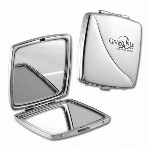 Two-Toned Brushed Metal Mirror Case ACC6004
