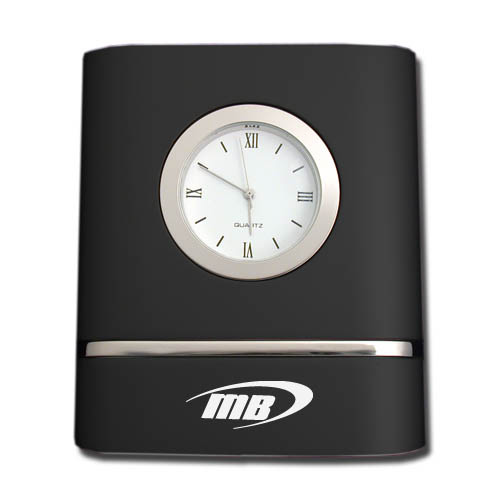Desk Clock- Brush Black Two Toned DSK0009