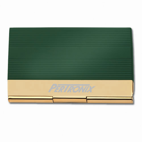 Business Card Holder- Green & Gold ACC1015