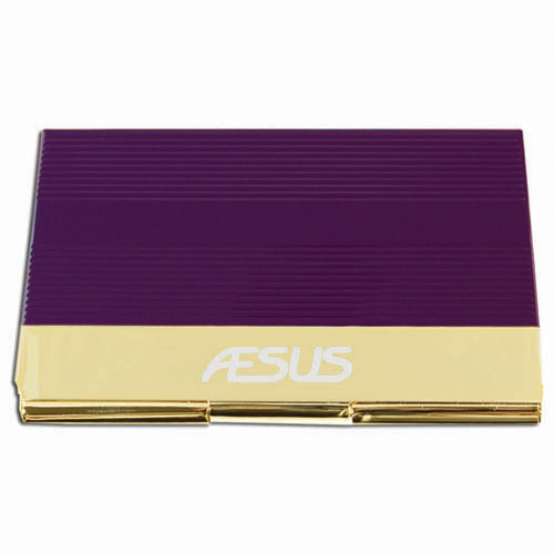 Business Card Holder- Purple & Gold ACC1011