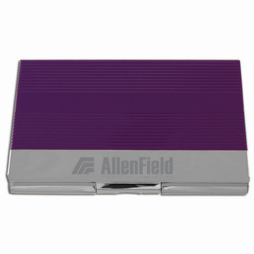 Business Card Holder- Purple & Silver ACC1007
