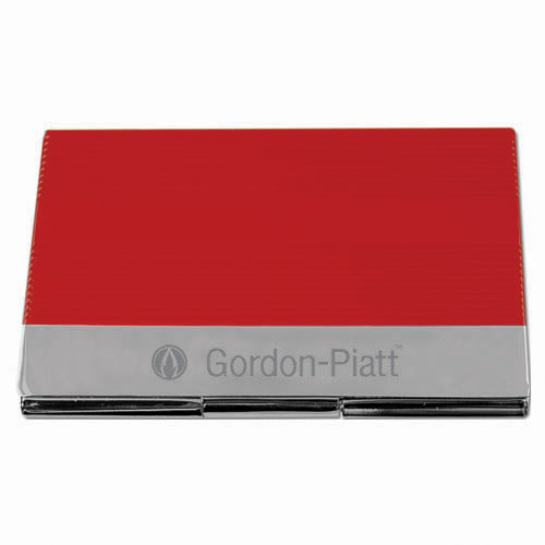 Business Card Holder- Red & Silver ACC1010