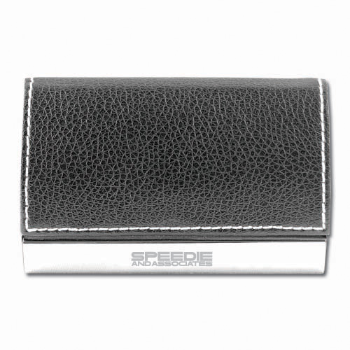 Business Card Holder- Leather Accented ACC1003