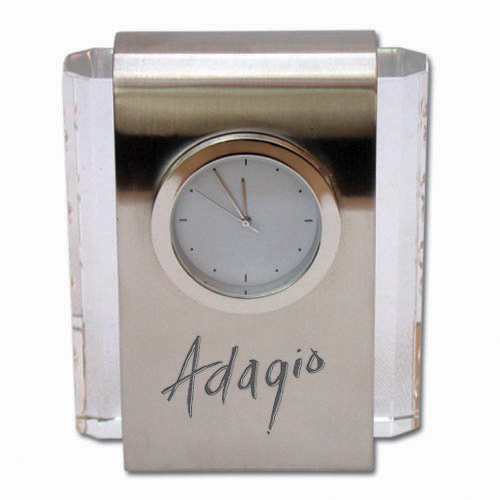 Desk Clock- Crystal/Metal DSK0011