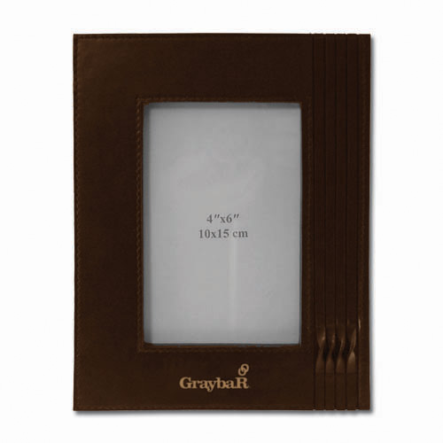 Leather Photo Frames 4X6- Brown DSK3026