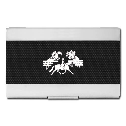 Color Business Card Holder Carbon Fiber- Black & Silver